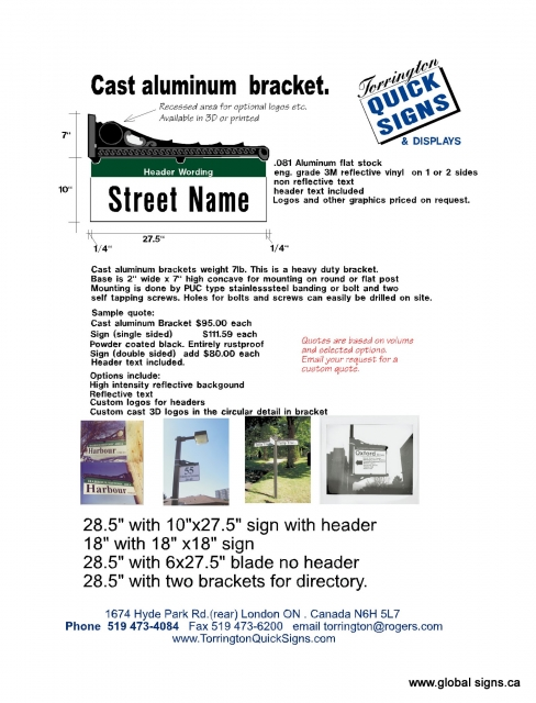 Sign-bracket-specs