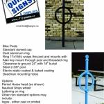 Bike posts flyer