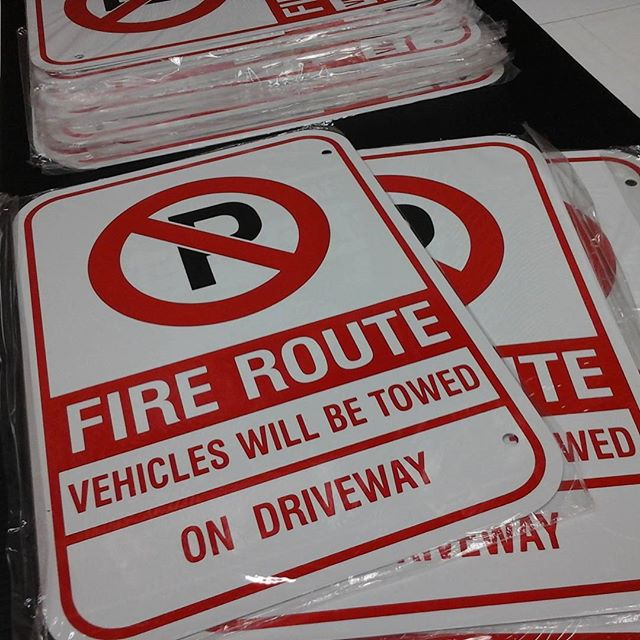Fire Route Signs