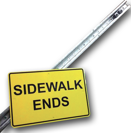 Sidewalk Ends Signs